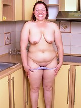 Young chubby creaming her boobs