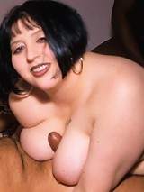 Mya just cant get enough black cock and she needs two huge poles to stuff her plump body full of meat!