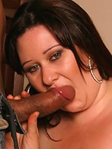 Large, lusty, lady takes her turn with the dick!