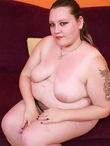 Horny bbw Menoly does a striptease and enjoys hardcore cock pounding in her big fat pussy