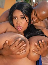 This hot black ebony bbw with the biggest set of natural tits on plumper pass wanted black dick.So thats what she gets